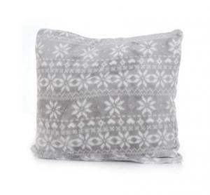 DomTextilu Sivé ozdobné obliečky na vankúše s motívom vločiek 40 x 40cm 6088-16249