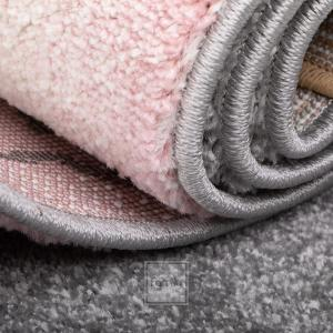 DomTextilu Sivo ružový koberec do detskej izby pre dievčatko macík 42019-197392