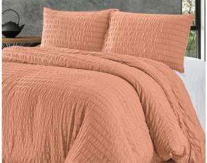 DomTextilu Svetlo oranźové jednofarebné posteľné obliečky 200 x 220 cm  Oranžová 40608