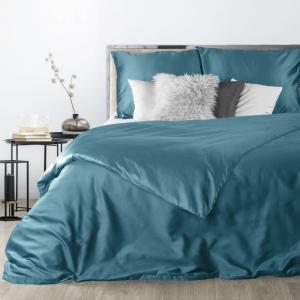 DomTextilu Tyrkysové saténové posteľné obliečky v obojstrannom vyhotovení 3 časti: 1ks 180x200 + 2ks 70 cmx80 Tyrkysová 70x80 cm 27587-153066