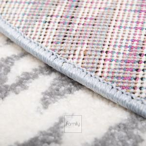 DomTextilu Vzorovaný modrý okrúhly koberec do chlapčenskej izby 41721-197008