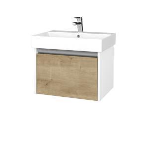 Dreja - Kúpeľňová skrinka BONO SZZ 60 umývadlo Glance - N01 Bílá lesk / D09 Arlington 277437