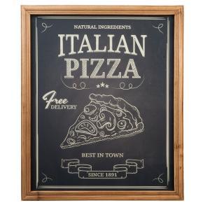 Dřevěná cedule Italian pizza