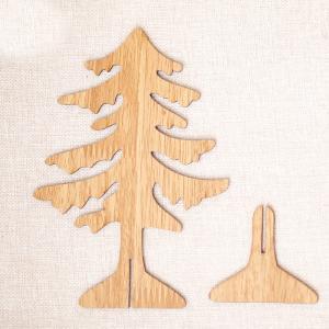 Drevená dekorácia vianočný strom Farba: tmavo hnedá, Veľkosť: L