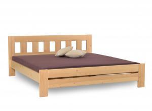 Drevená manželská posteľ KUBA - smrek