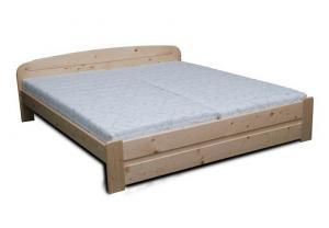 Drevená manželská posteľ MAREK - smrek