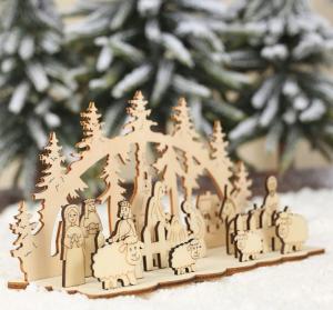 Drevený dekoratívny betlehem Varianta: 1