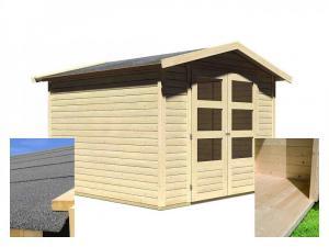 drevený domček KARIBU AMBERG 4 (14440) SET