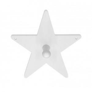 Drevený hviezdicový vešiak biely
