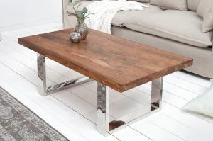 Drevený konferenčný stolík FireEarth 60 x 110 cm – 43 mm »
