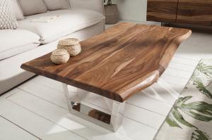 Drevený konferenčný stolík Mammut 69 x 110 cm – 40 mm »