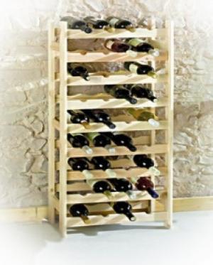Drevený regál na víno pre 36 fľiaš