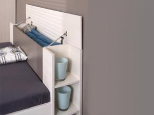 DREVONA09 Manželská posteľ šedá 160 cm REA AMY