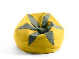 DREVONA09 Nepremokavý sedací vak LORE FLORA A110 žltý
