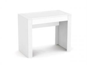 DREVONA09 Písací stolík pod PC biely REA JAMIE