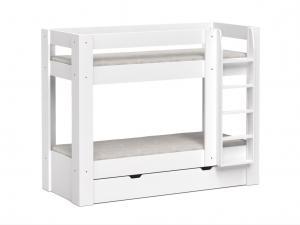 DREVONA09 Poschodová posteľ biela REA PIKACHU, pravá