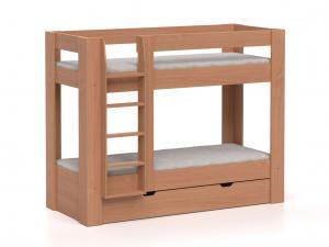 DREVONA09 Poschodová posteľ REA PIKACHU, ľavá buk
