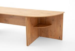 DREVONA09 Rohový stôl dub lancelot OFFICE 66