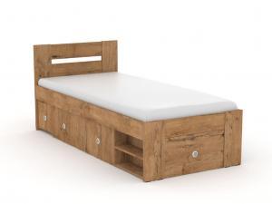 DREVONA09 Študentská posteľ 90 dub lancelot REA LARISA