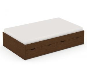 DREVONA09 Tmavá posteľ 120 x 200 cm wenge REA MISTY