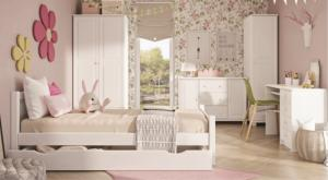 Drewmax Jednolôžková posteľ - masív LK30/10 biela borovica Prevedenie: 100 x 200 cm