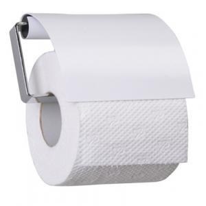 Držiak na toaletný papier PURE, biely, s klapkou