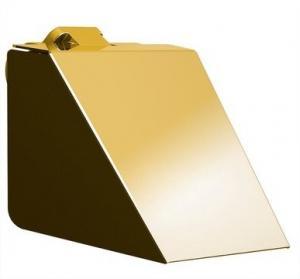 Držiak toaletného papiera SOUL , zlatý, s klapkou.