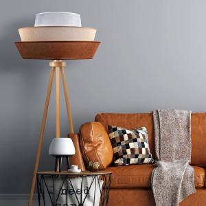EULUNA Trojnohá stojaca lampa Lotos, hnedá/béžová/biela