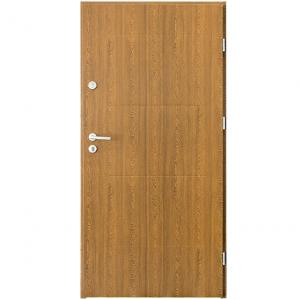 Dvere vchodové Sevilla 80P zlatý dub