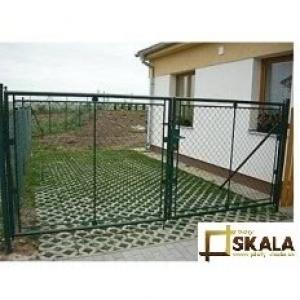 Dvojkrídlová brána Klasik zelená Dvojkrídlová KLASIK | V: 125cm