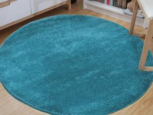 DY Okrúhly koberec Lora Blue Rozmer: 100 x 100 cm