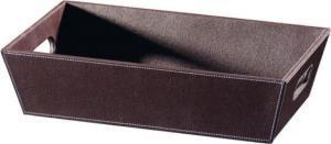 ECO PELLE odkládacia miska 43x11x26cm - čierna