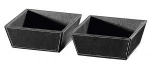 ECO PELLE odkládacie misky 2ks  19,6x8x19,6cm - čierna