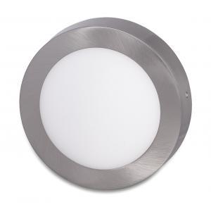 Ecolite Strieborný prisadený LED panel guľatý 175mm 12W Farba svetla: Denná biela LED-CSL-12W/41/CHR