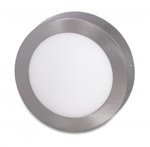 Ecolite Strieborný prisadený LED panel guľatý 225mm 18W Farba svetla: Teplá biela LED-CSL-18W/27/CHR
