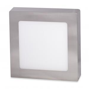 Ecolite Strieborný prisadený LED panel hranatý 225 x 225mm 18W Farba svetla: Teplá biela LED-CSQ-18W/27/CHR