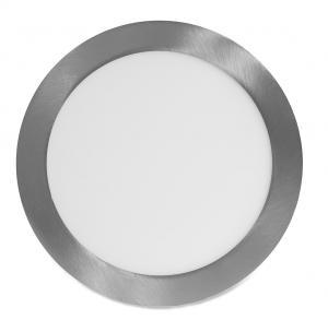 Ecolite Strieborný vstavaný LED panel guľatý 225mm 18W Farba svetla: Denná biela LED-WSL-18W/41/CHR