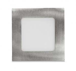 Ecolite Strieborný vstavaný LED panel hranatý 120 x 120mm 6W Farba svetla: Teplá biela LED-WSQ-6W/27/CHR