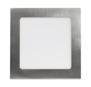 Ecolite Strieborný vstavaný LED panel hranatý 170 x 170mm 12W Farba svetla: Teplá biela LED-WSQ-12W/27/CHR