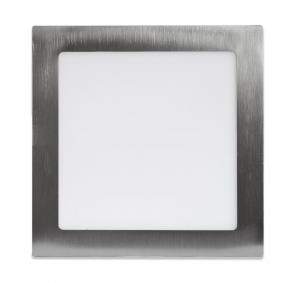 Ecolite Strieborný vstavaný LED panel hranatý 225 x 225mm 18W Farba svetla: Denná biela LED-WSQ-18W/41/CHR