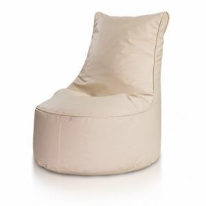 Ecopuf Detský MINI sedací vak ECOPUF - SEAT S - ekokoža E2 - Smotanovo biela