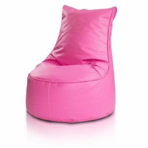 Ecopuf Detský MINI sedací vak ECOPUF - SEAT S - ekokoža E5 - Ružová