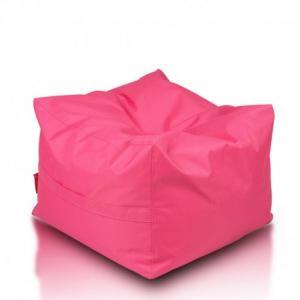 Ecopuf Sedací vak ECOPUF - CUBO - polyester NC10 - Rúžová