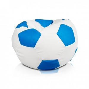 Ecopuf Sedací vak ECOPUF - FOOTBALL M - ekokoža E19 - Svetlo modrá