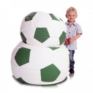 Ecopuf Sedací vak ECOPUF - FOOTBALL M - ekokoža E9 - Zelená