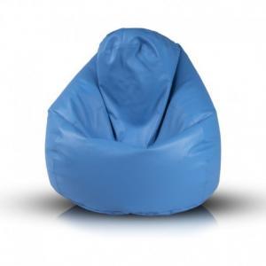 Ecopuf Sedací vak Ecopuf - Fuzzy - ekokoža E10 - Modrá