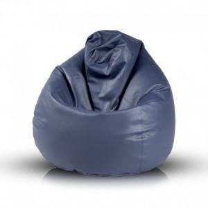 Ecopuf Sedací vak Ecopuf - Fuzzy - ekokoža E11 - Tmavo modrá