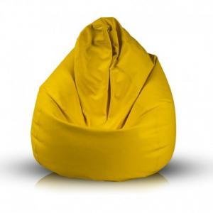 Ecopuf Sedací vak Ecopuf - Fuzzy - ekokoža E18 - Žltá