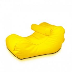 Ecopuf Sedací vak Ecopuf - HOGAN - ekokoža E18 - Žltá