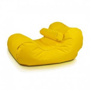 Ecopuf Sedací vak Ecopuf - HOGAN - polyester NC4 - Žltá